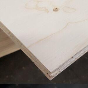 Fins vuren 12mm rechte kanten 244x122cm