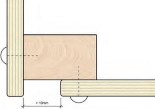 Multiplex de juiste ruimte tussen platen (dilatatie)